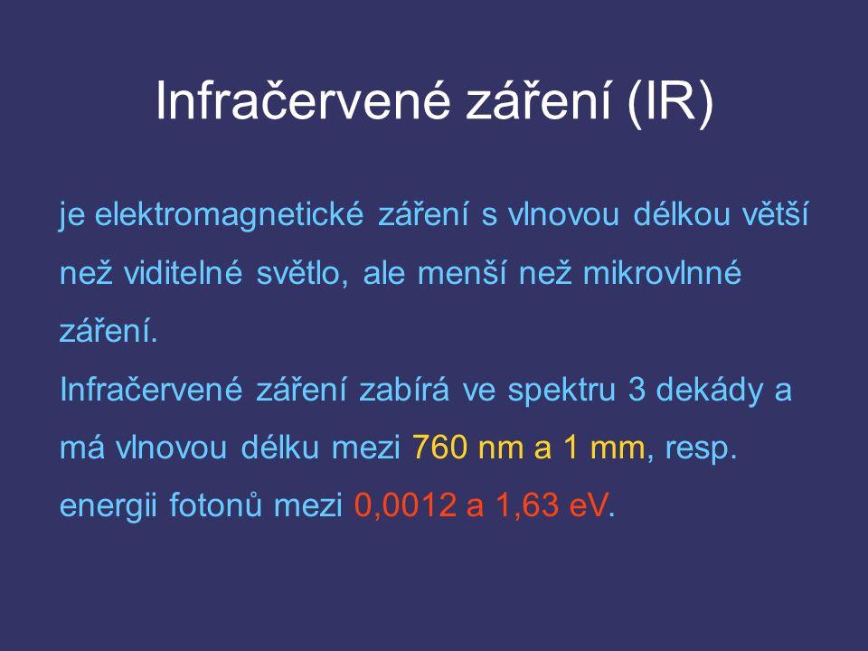 Infračervené záření (IR) je elektromagnetické záření s vlnovou délkou větší než viditelné světlo, ale menší než mikrovlnné záření.