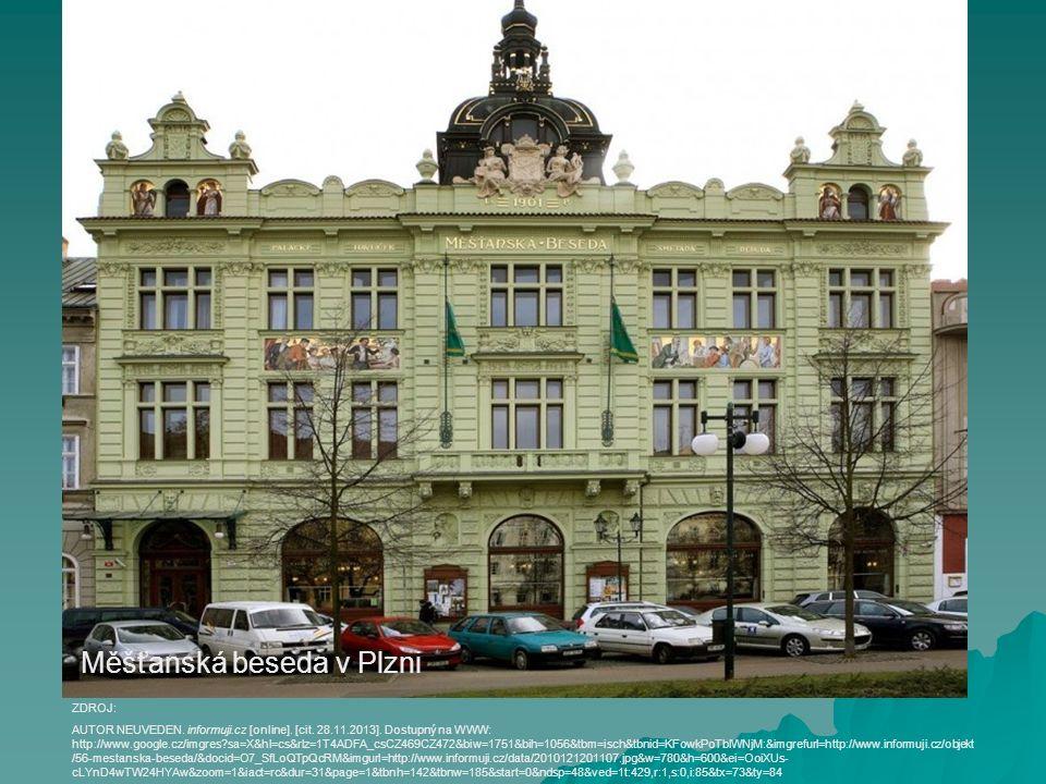 Měšťanská beseda v Plzni AUTOR NEUVEDEN. informuji.cz [online]. [cit. 28.11.2013]. Dostupný na WWW: http://www.google.cz/imgres?sa=X&hl=cs&rlz=1T4ADFA