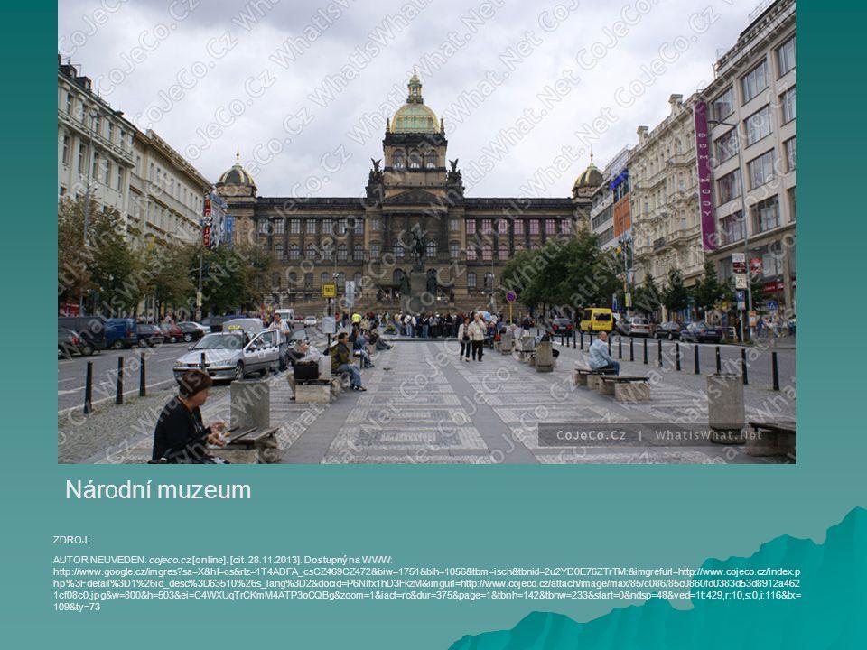 Národní muzeum AUTOR NEUVEDEN. cojeco.cz [online].