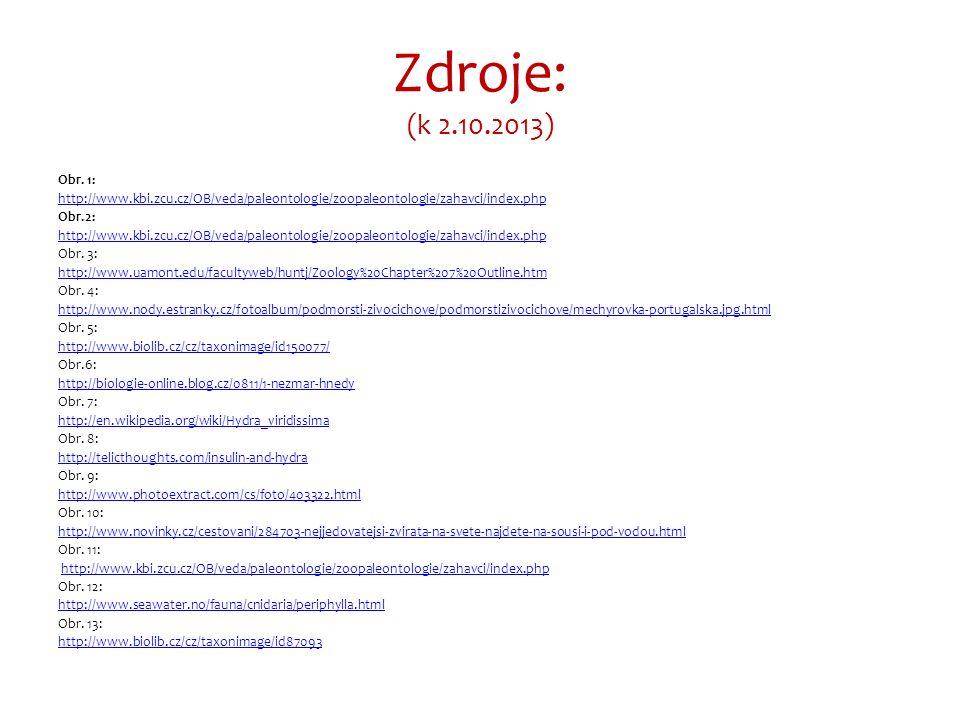 Zdroje: (k 2.10.2013) Obr.