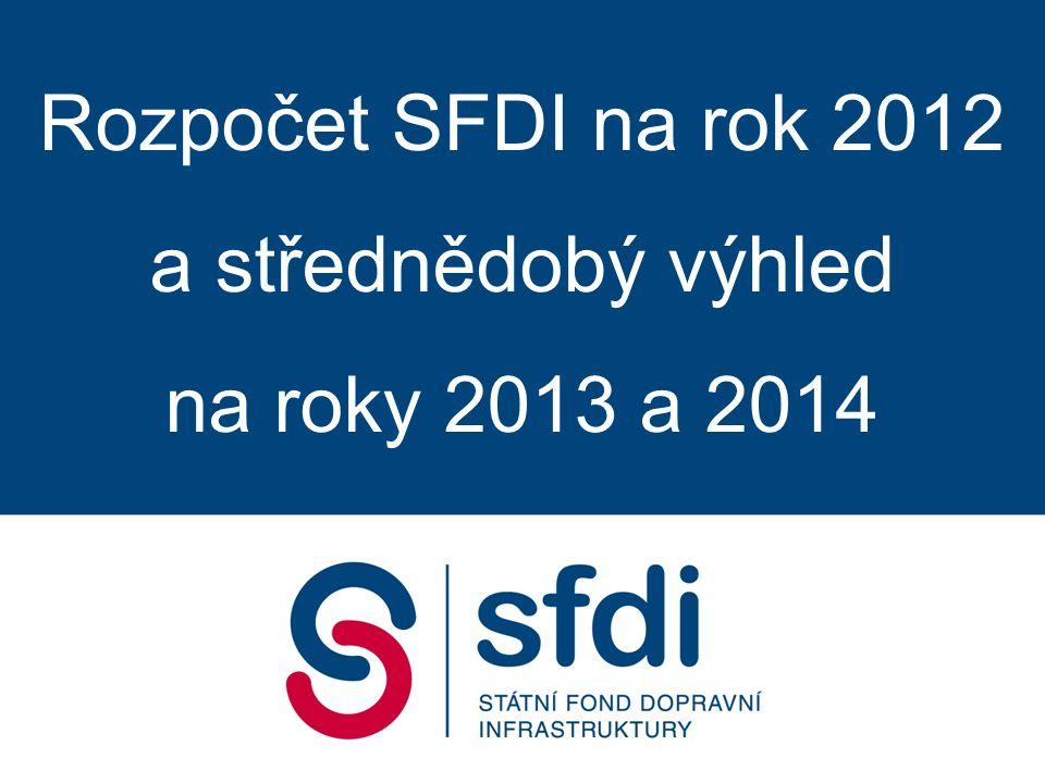 Rozpočet SFDI na rok 2012 a střednědobý výhled na roky 2013 a 2014