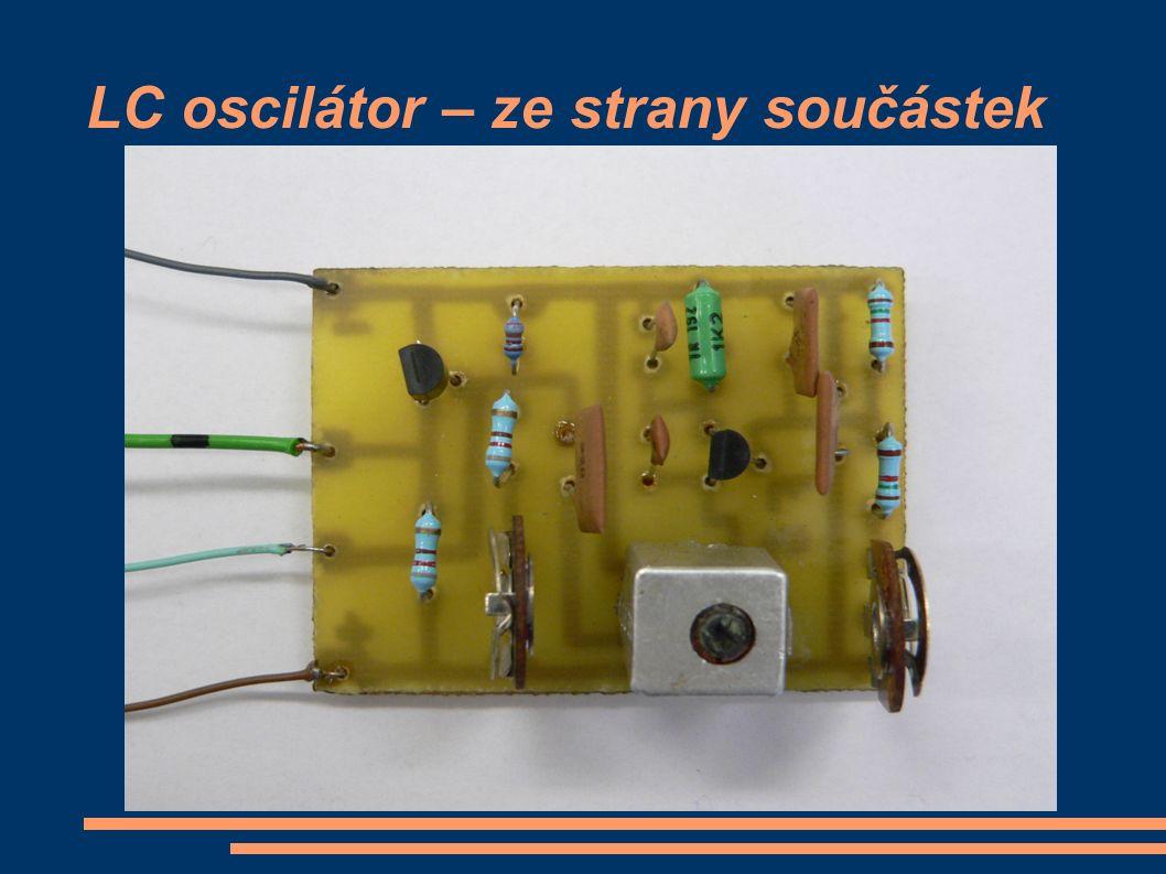 LC oscilátor – ze strany součástek