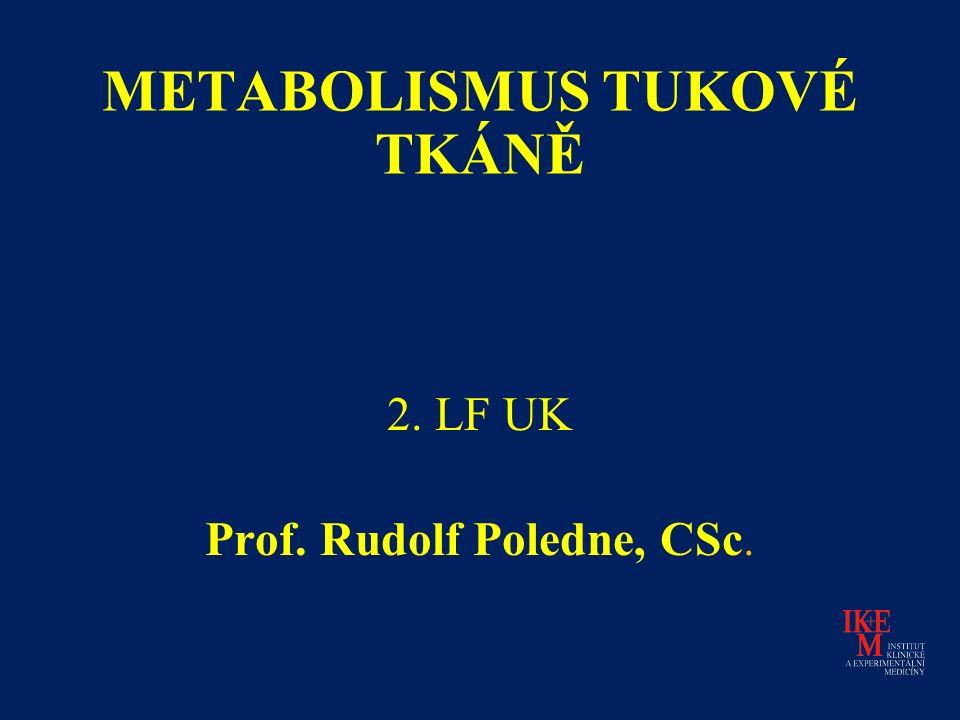 METABOLISMUS TUKOVÉ TKÁNĚ 2. LF UK Prof. Rudolf Poledne, CSc.