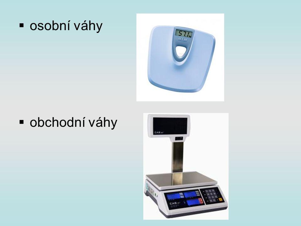  osobní váhy  obchodní váhy
