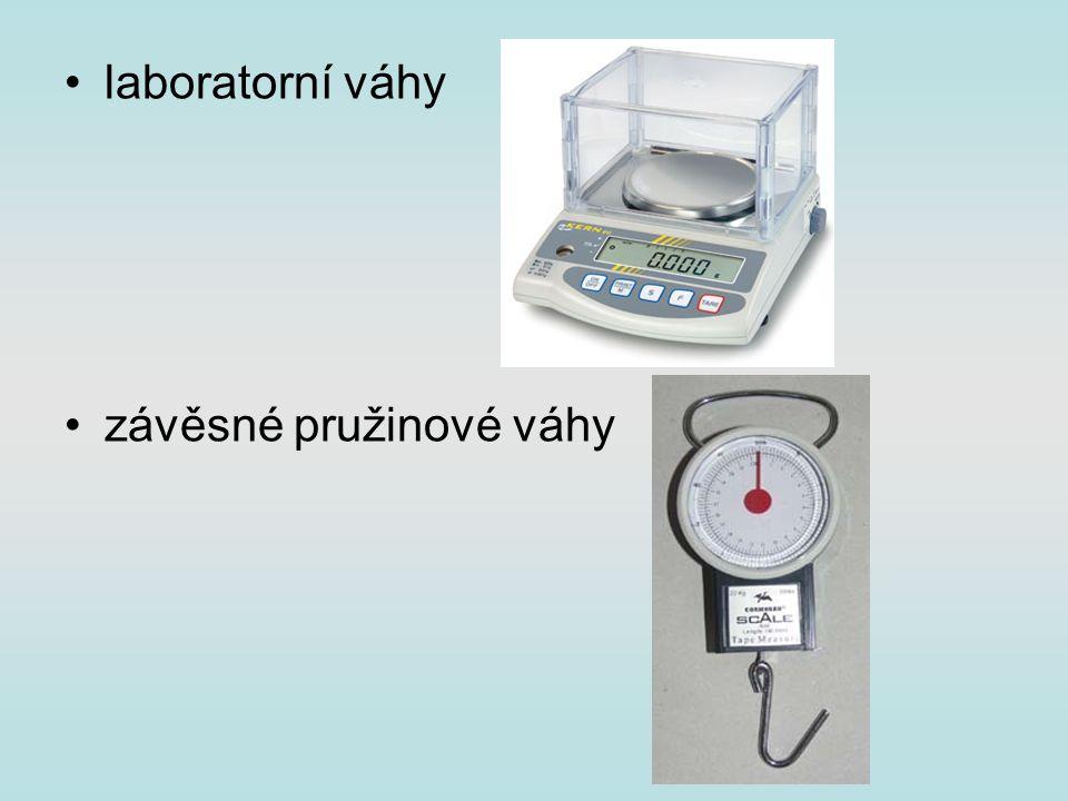 laboratorní váhy závěsné pružinové váhy