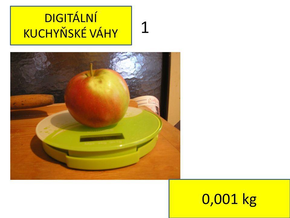 1 DIGITÁLNÍ KUCHYŇSKÉ VÁHY 0,001 kg