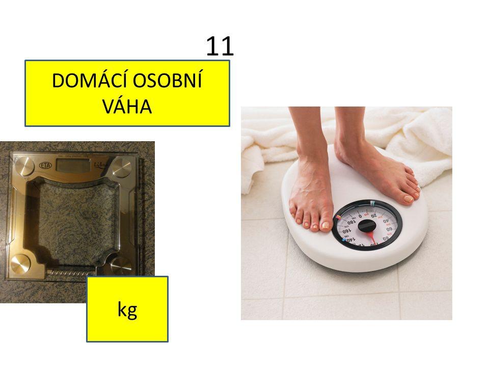 11 DOMÁCÍ OSOBNÍ VÁHA kg