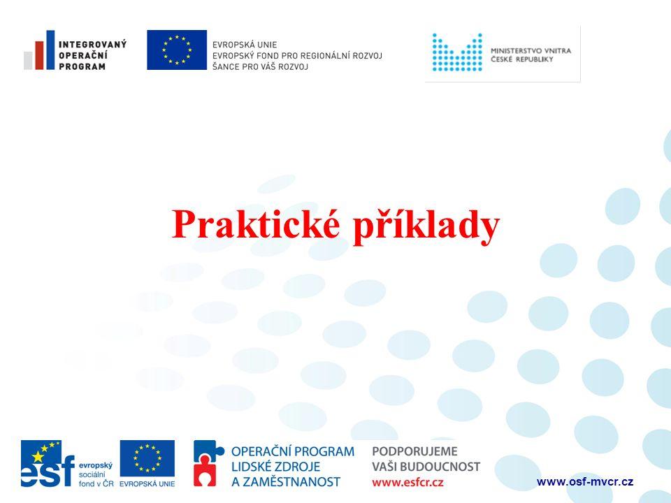Praktické příklady www.osf-mvcr.cz