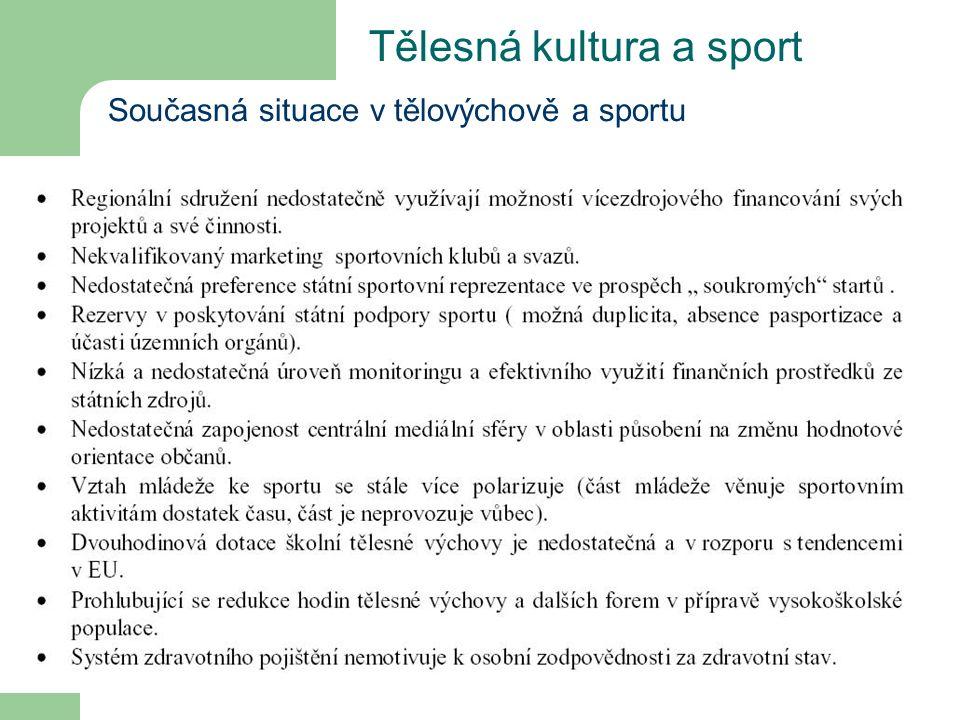 Tělesná kultura a sport Současná situace v tělovýchově a sportu