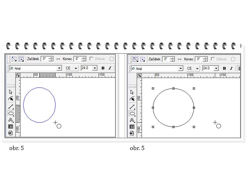 pokud klikneme na volbu mód tvarování, zachováme úhly rámce při tažení středového bodu, tím zůstane objektu zachován jeho charakter Obr.
