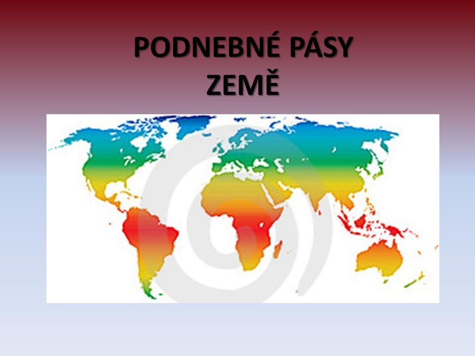  Tropický pás střídavě vlhký - severní a severovýchodní pobřeží kontinentu, stále teplé podnebí, střídá se období sucha a dešťů dostatek srážek říjen - duben  Subtropický pás – jen na jihu kontinentu, nižší průměrné teploty, srážky rozloženy rovnoměrněji  Tropický pás suchý – na většině kontinentu – ve vnitrozemí a na západě, nejvyšší průměrné teploty a nejnižší srážky