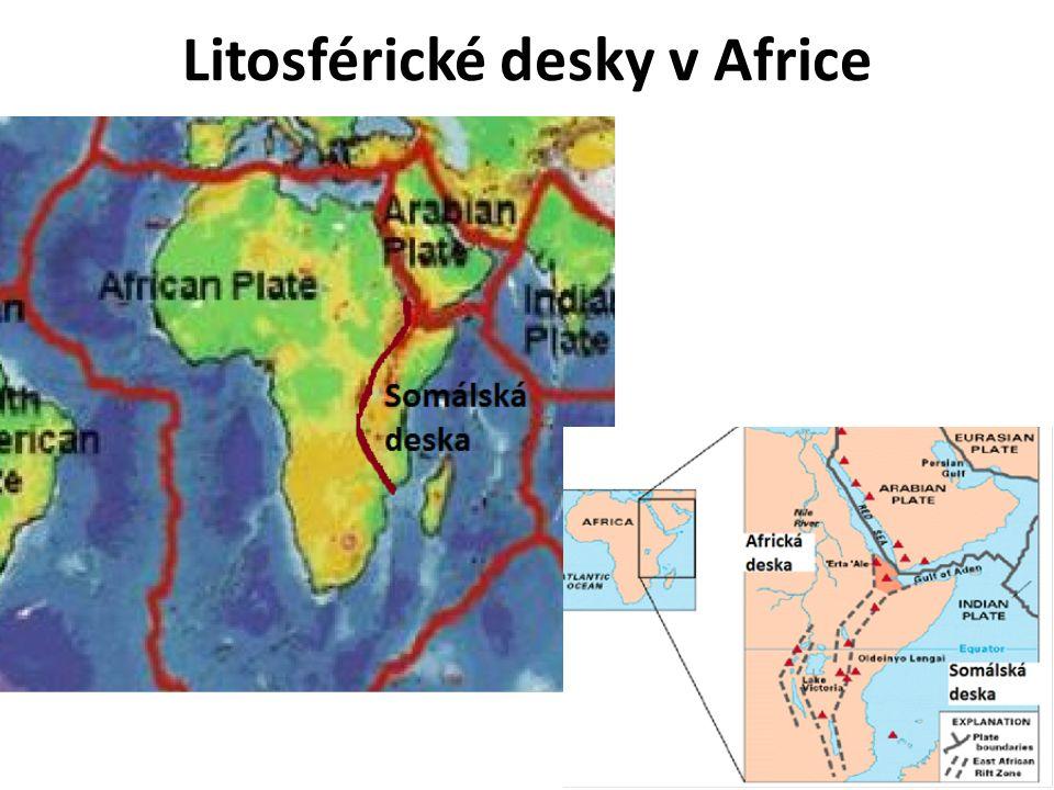 Litosférické desky v Africe