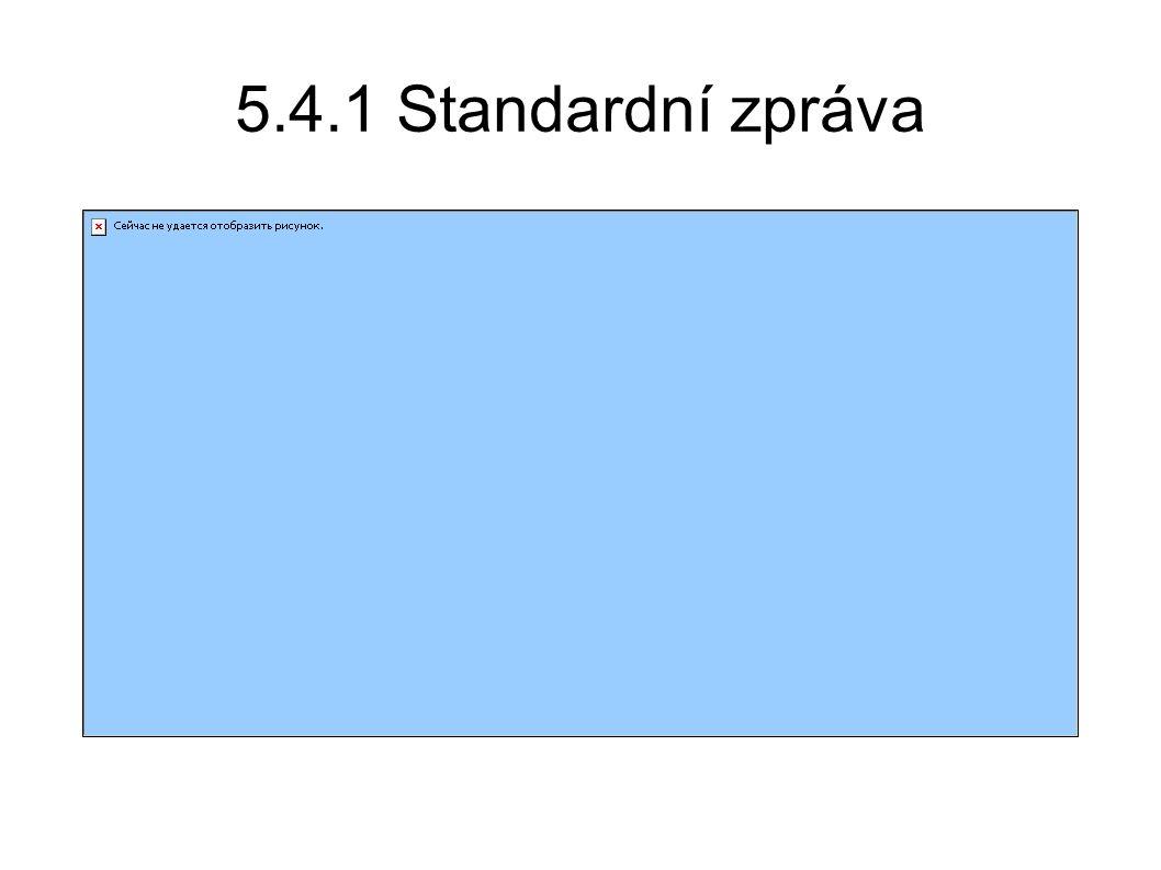 5.4.1 Standardní zpráva