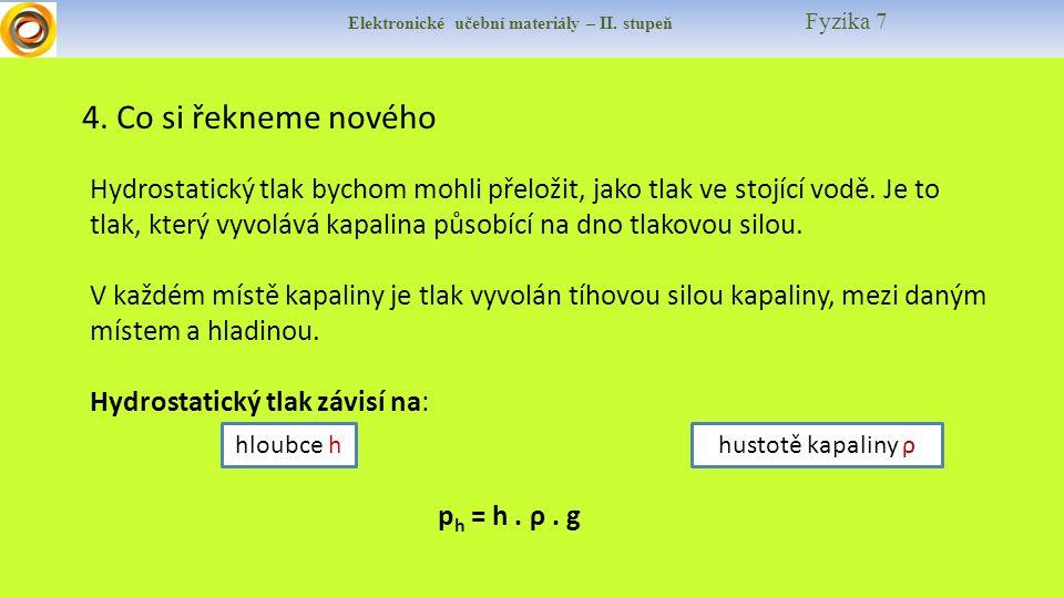 Elektronické učební materiály – II.stupeň Fyzika 7 4.