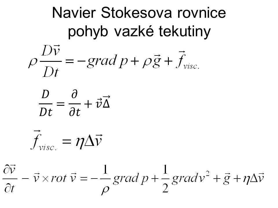 Navier Stokesova rovnice pohyb vazké tekutiny