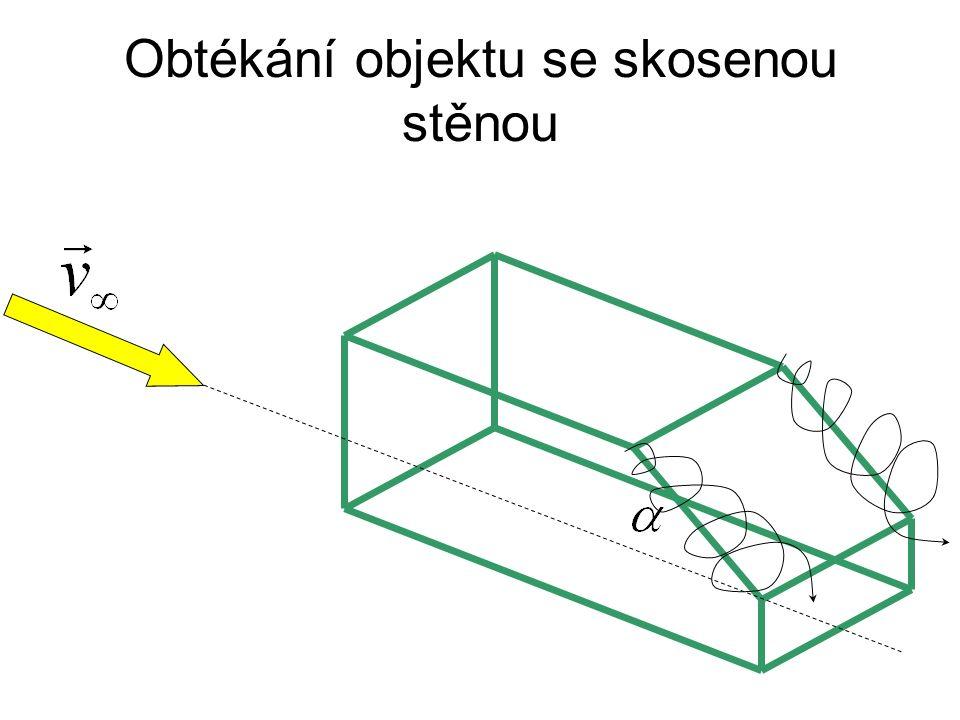 Obtékání objektu se skosenou stěnou