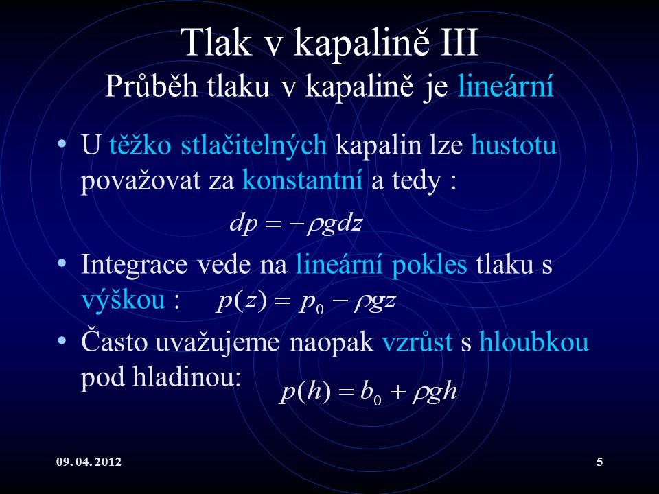 09.04. 201246 Viskózní kapaliny XVI Pro posouzení, zda je proudění ještě laminární se používá tzv.