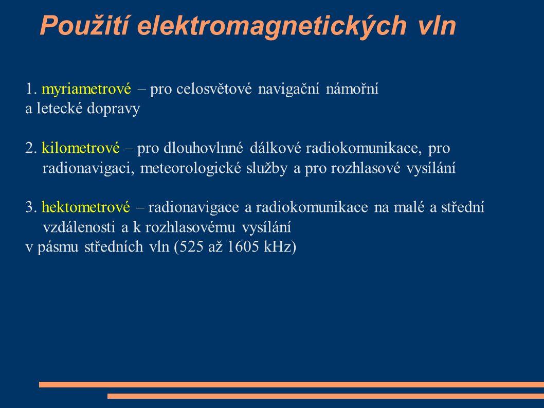 Použití elektromagnetických vln 1.