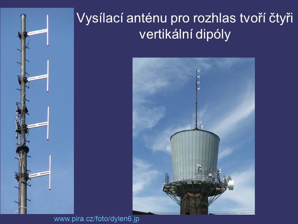 Vysílací anténu pro rozhlas tvoří čtyři vertikální dipóly www.pira.cz/foto/dylen6.jp g