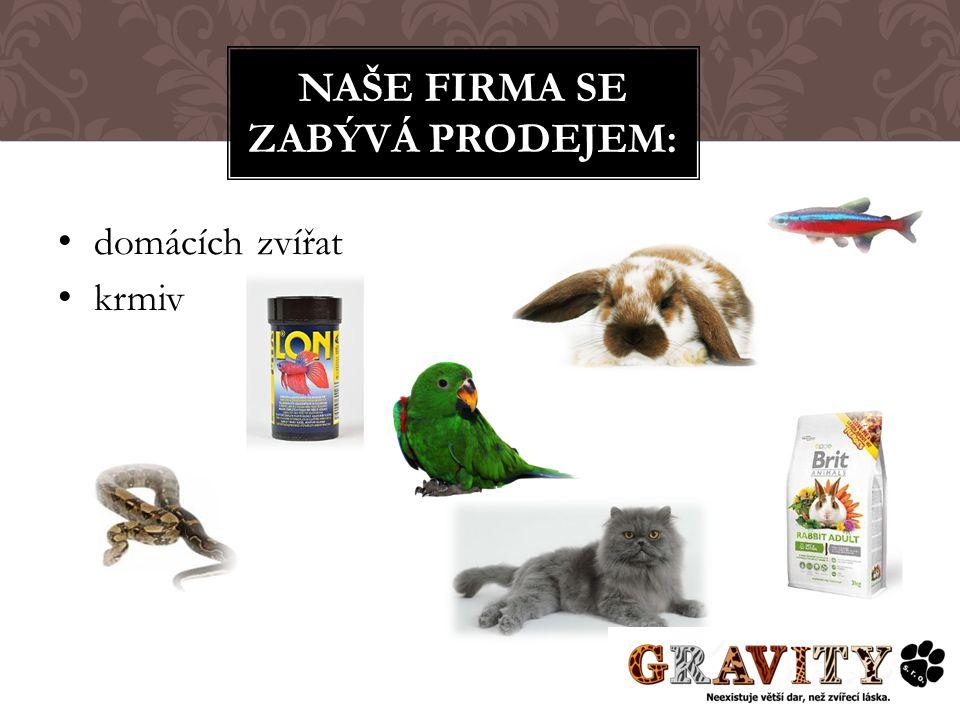domácích zvířat krmiv NAŠE FIRMA SE ZABÝVÁ PRODEJEM: