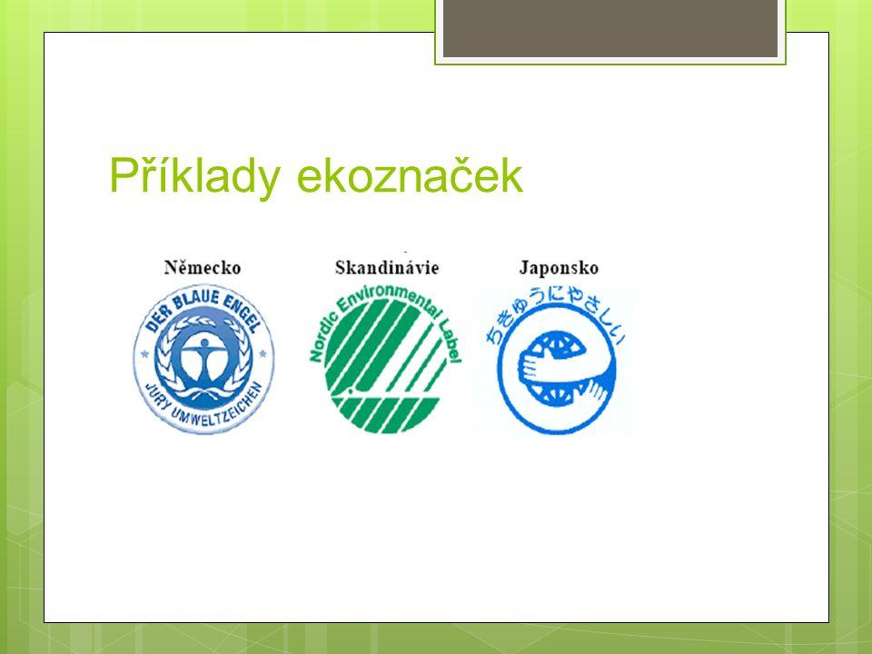 Příklady ekoznaček
