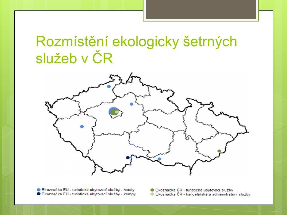 Rozmístění ekologicky šetrných služeb v ČR