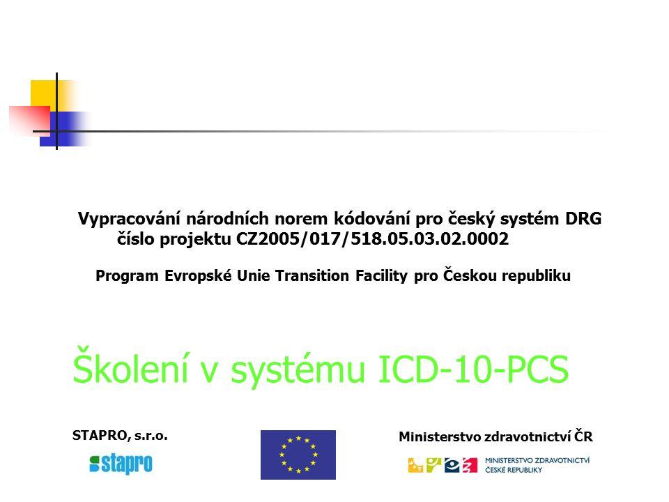ICD-10-Procedure Coding System (ICD-10-PCS) Historie a hlavní charakteristiky systému