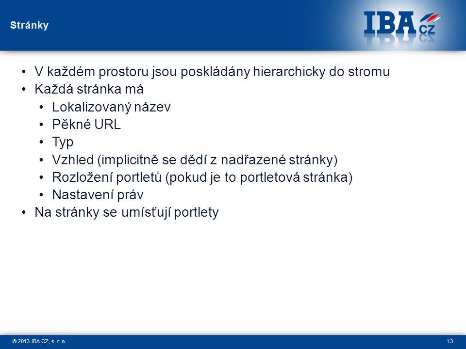 13© 2013 IBA CZ, s.r. o.
