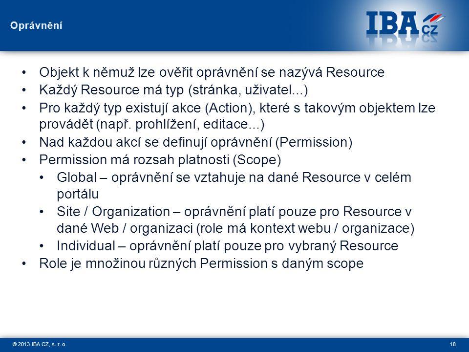 18© 2013 IBA CZ, s. r. o.
