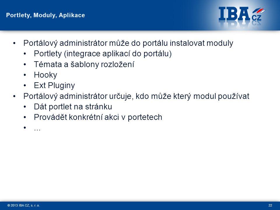 22© 2013 IBA CZ, s. r. o.