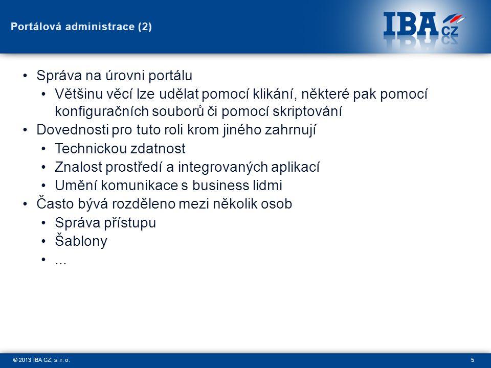 5© 2013 IBA CZ, s. r. o.
