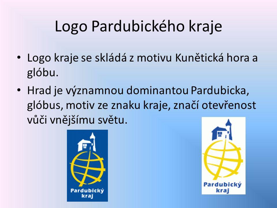 Logo Pardubického kraje Logo kraje se skládá z motivu Kunětická hora a glóbu.