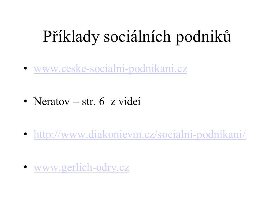 Příklady sociálních podniků www.ceske-socialni-podnikani.cz Neratov – str.