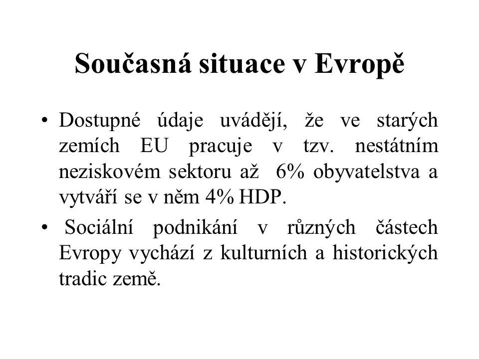 Současná situace v Evropě Dostupné údaje uvádějí, že ve starých zemích EU pracuje v tzv.
