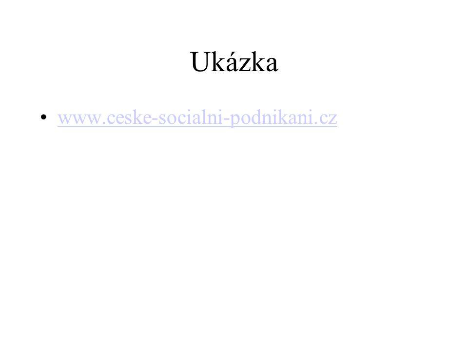 Ukázka www.ceske-socialni-podnikani.cz