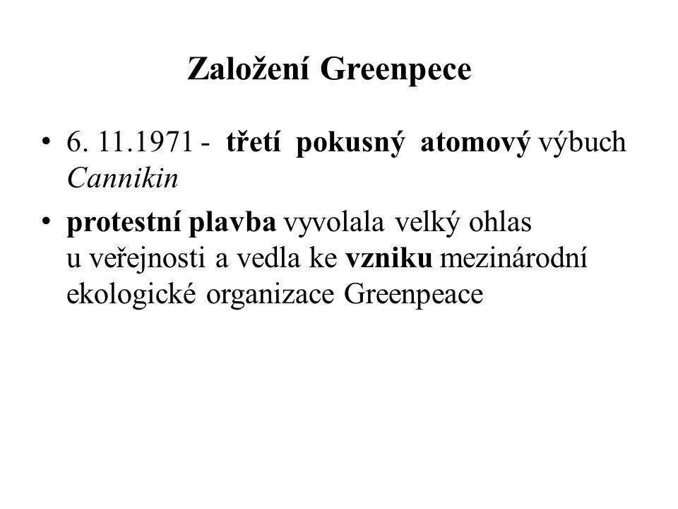 Založení Greenpece 6.