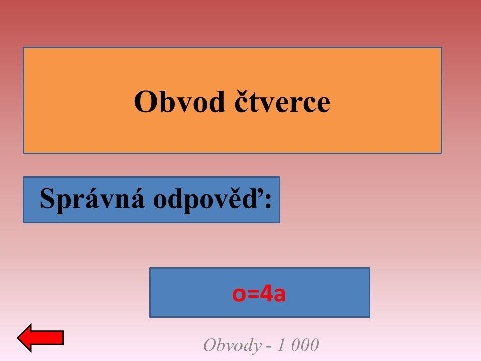 Správná odpověď: Vzorce naruby - 2 000 Co je to za vzorec?. S=πr² Obsah kruhu
