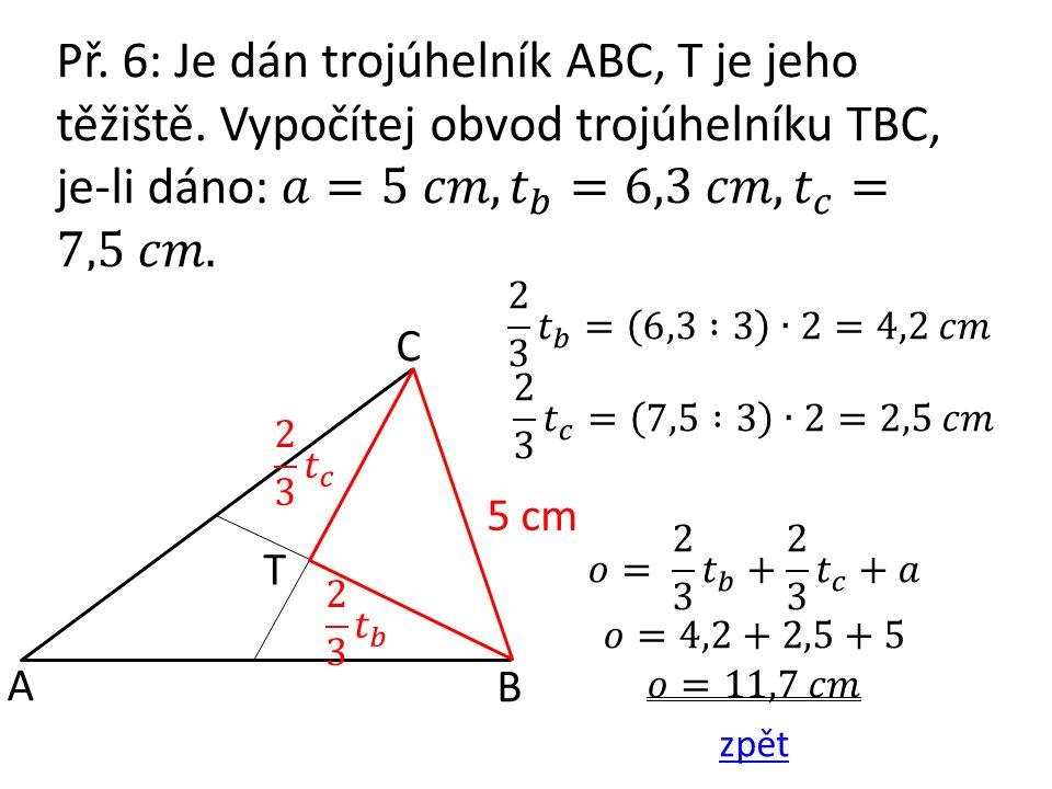T A B C 5 cm T