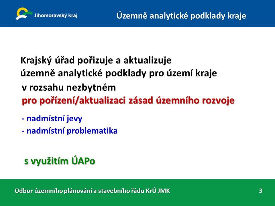 ÚAP JMK 2015 jsou zhotoveny podle smlouvy o dílo č.