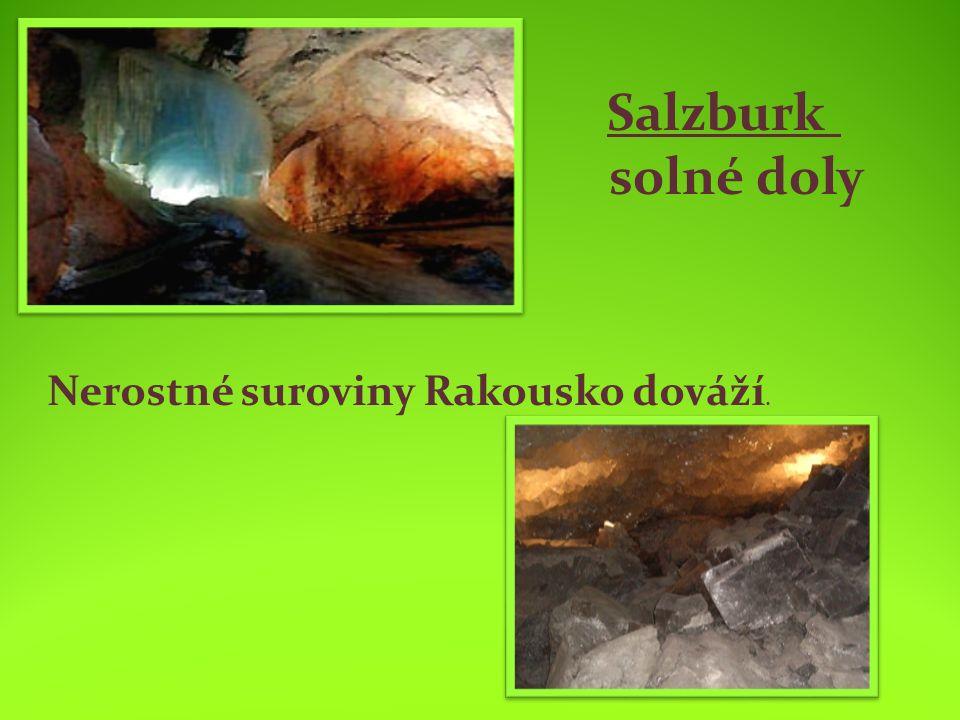 Salzburk solné doly Nerostné suroviny Rakousko dováží.