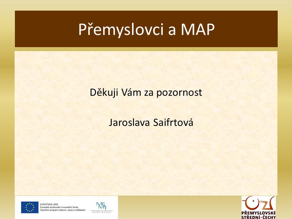 Děkuji Vám za pozornost Jaroslava Saifrtová Přemyslovci a MAP