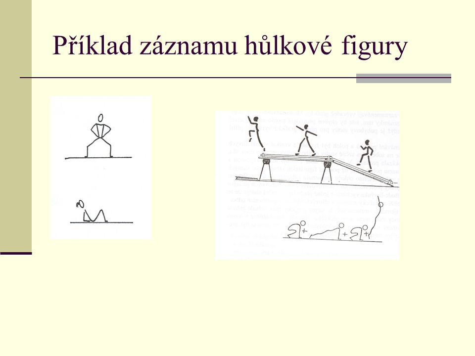 Příklad záznamu hůlkové figury
