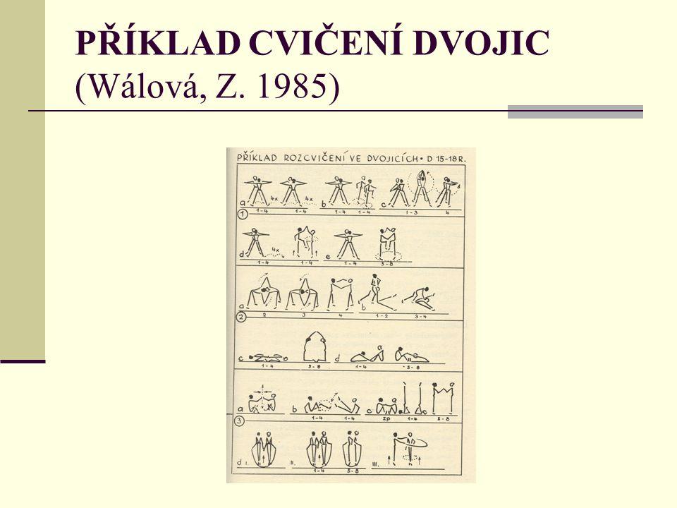 PŘÍKLAD CVIČENÍ DVOJIC (Wálová, Z. 1985)