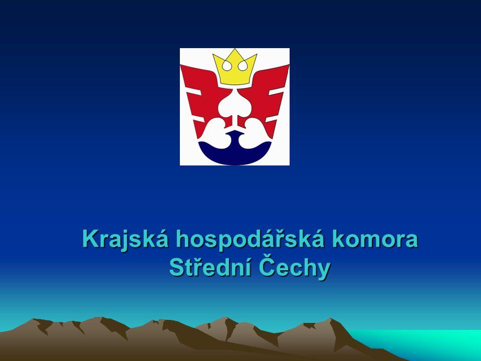 Základní informace o Krajské hospodářské komoře Střední Čechy  Regionální hospodářská komora  Princip dobrovolného členství v komoře  Členská základna je tvořena cca 900 subjekty  Nejvyšším orgánem je shromáždění delegátů, dalšími orgány jsou představenstvo a dozorčí rada.