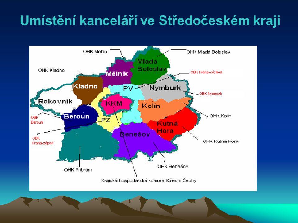 Umístění kanceláří ve Středočeském kraji