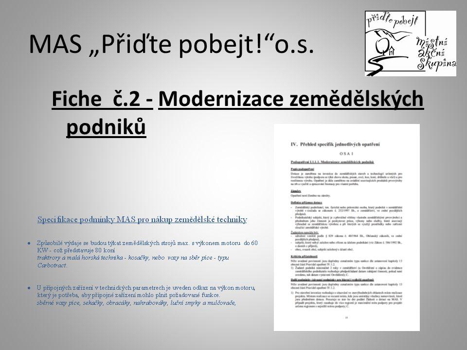 Fiche č.2 - Modernizace zemědělských podniků
