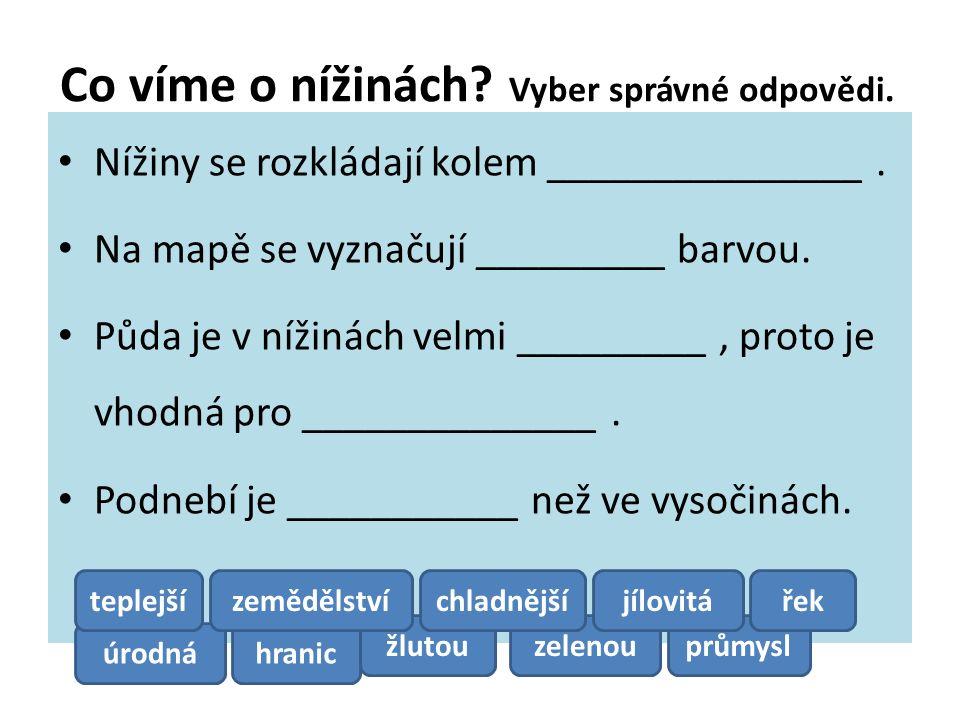 Povrch České republiky Jaký typ krajiny převažuje v naší republice.