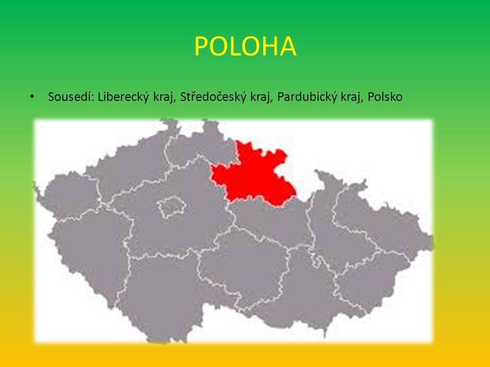 POLOHA Sousedí: Liberecký kraj, Středočeský kraj, Pardubický kraj, Polsko