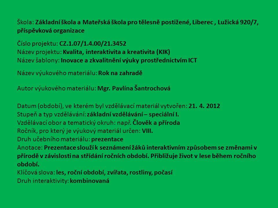 VY_32_INOVACE_Čp.16.04 1 z 1 Rok v lese Mgr.