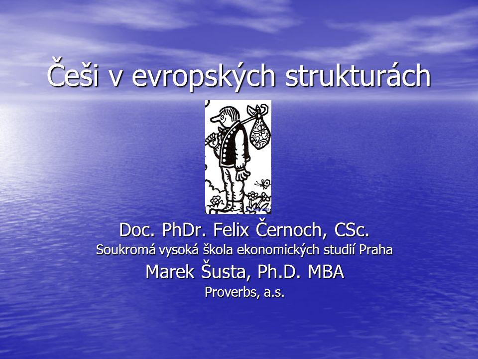 Češi v evropských strukturách Doc. PhDr. Felix Černoch, CSc.